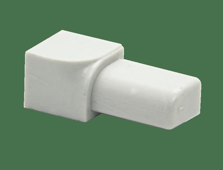 Projolly Quart innv hjørne hvit PVC 8 mm 5 pk