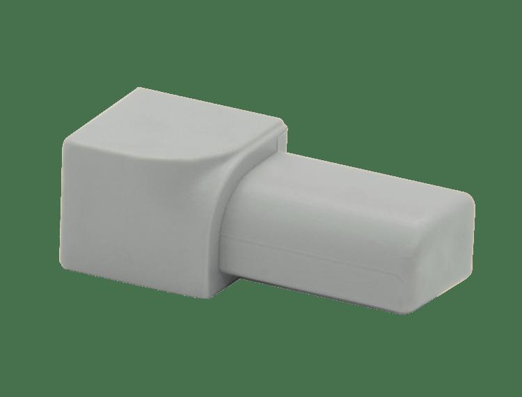 Projolly Quart innv hjørne lys grå PVC 12,5 mm 5 pk