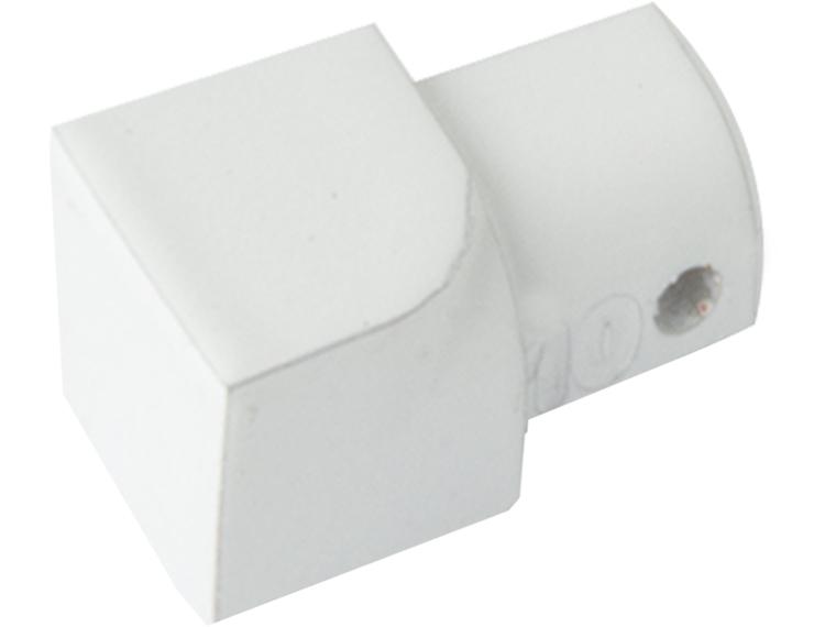 Projolly Quart innv hjørne hvit alu 12,5 mm 2pk