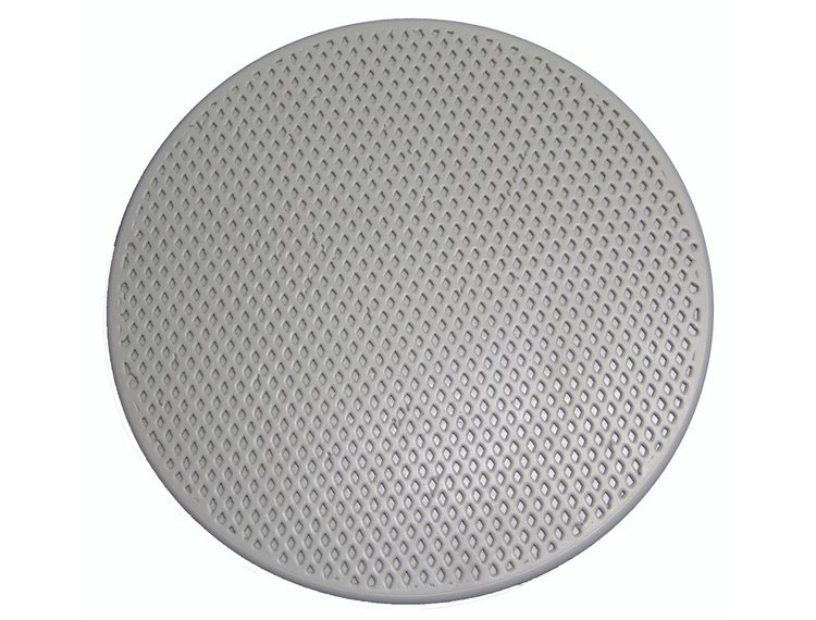 Rokamat Skate/Sponge float perforert plate for rubbing/glatting av betong Ø350 mm