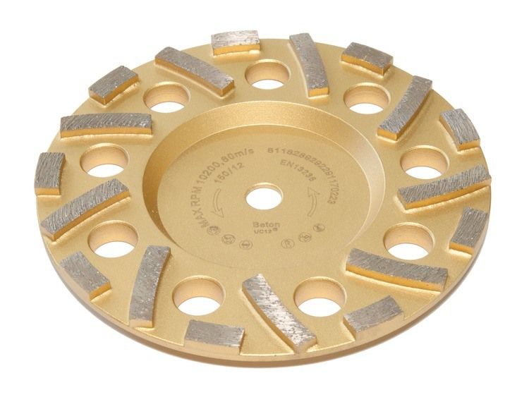 Rokamat Gex Diamantslipekopp Gold universal for harde materialer Ø150 mm