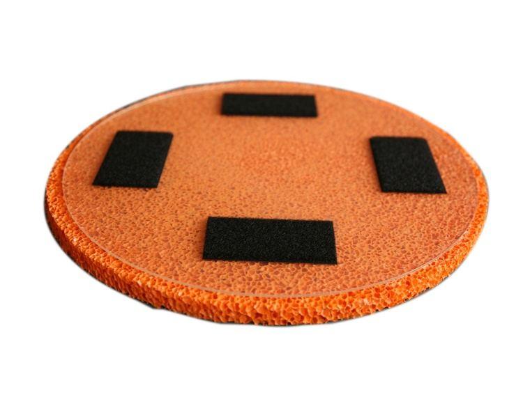Rokamat Dry/Sponge float -grov svamp på plast bakplate Ø350 mm