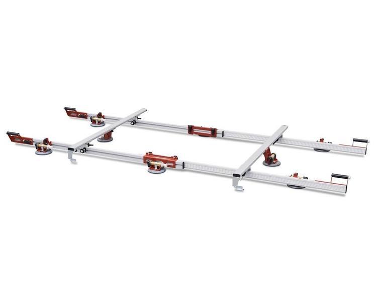 Easy Move MK3 Adv. dobbel med 8 vakuum sugekopper m/måler og tverrstang (3 kolli)