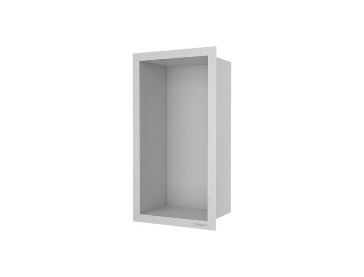 ESS Container F-box veggnisje børstet stål, ramme børstet stål 15x30x10 cm