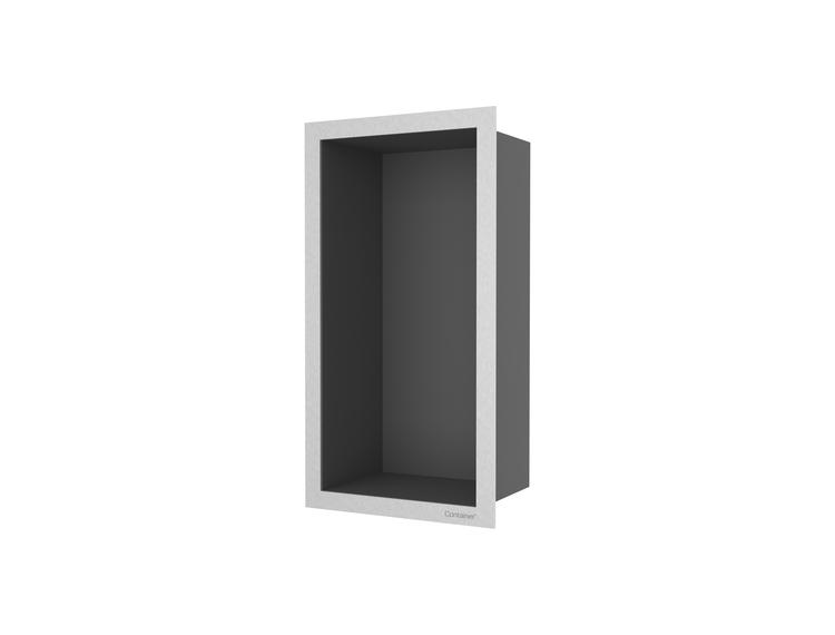ESS Container F-box veggnisje antrasitt, ramme børstet stål 15x30x10 cm
