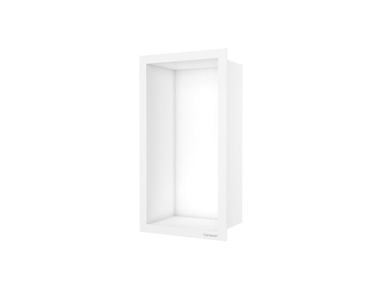 ESS Container F-box veggnisje hvit, ramme hvit 15x30x10 cm