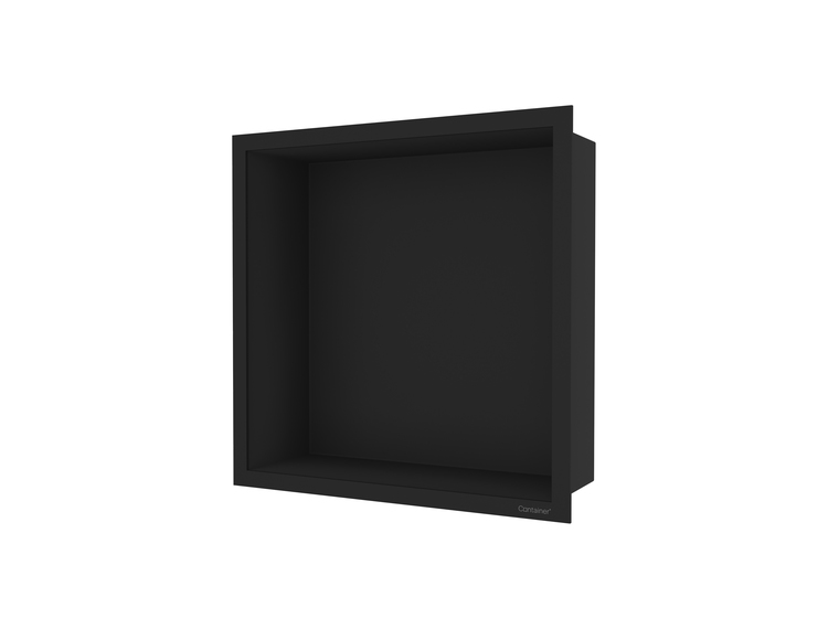ESS Container F-box veggnisje sort, ramme sort 30x30x10 cm