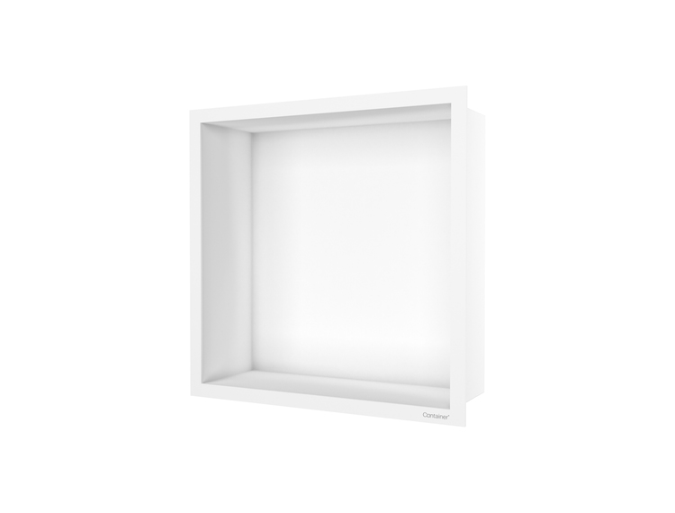 ESS Container F-box veggnisje hvit, ramme hvit 30x30x10 cm