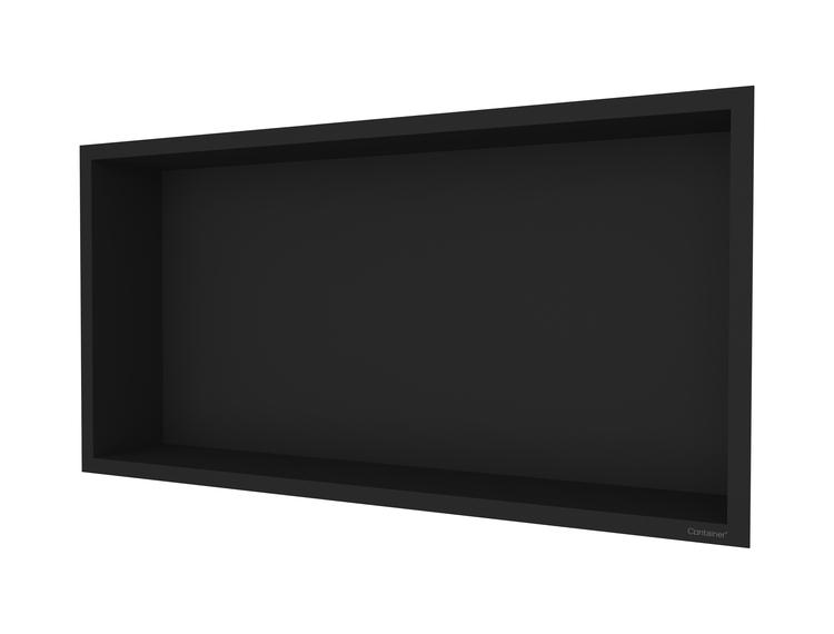 ESS Container F-box veggnisje sort, ramme sort 60x30x10 cm