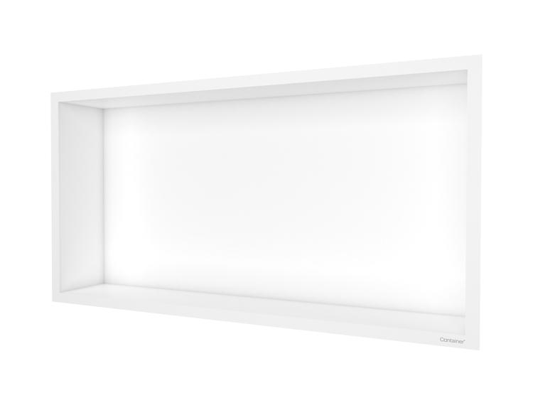 ESS Container F-box veggnisje hvit, ramme hvit 60x30x10 cm