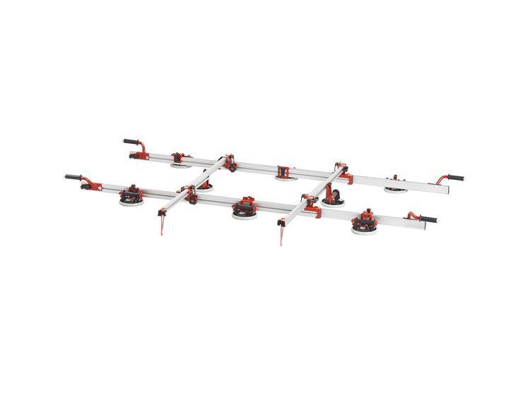 Easy Move MK4 Adv. dobbel med 8  vakuum sugekopper 175 mm m/måler og tverrstang (3 kolli)