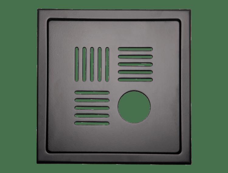 Design Slukrist N°13 20x20cm sort matt stål m/uthugg