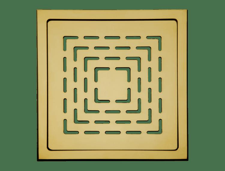 Design Slukrist N°19 20x20cm messing