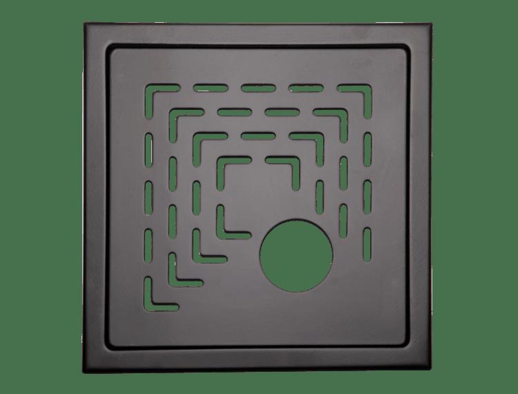 Design Slukrist N°19 20x20cm sort matt stål m/uthugg