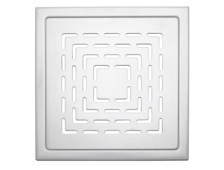 Design Slukrist N°19 20x20cm hvit matt stål