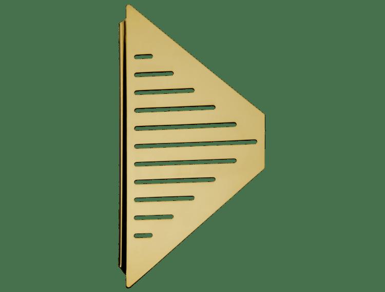 Design hjørnehylle N°13 for dusj 1mm, messing