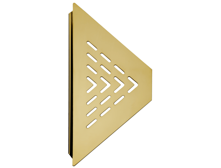 Design hjørnehylle N°19 for dusj 1mm, messing