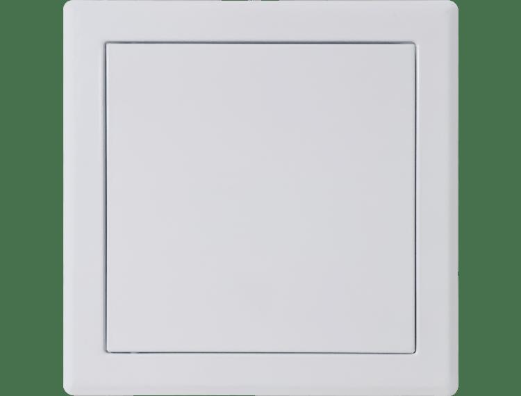 Inspeksjonsdør tett hvit matt push-dør 15x15 cm