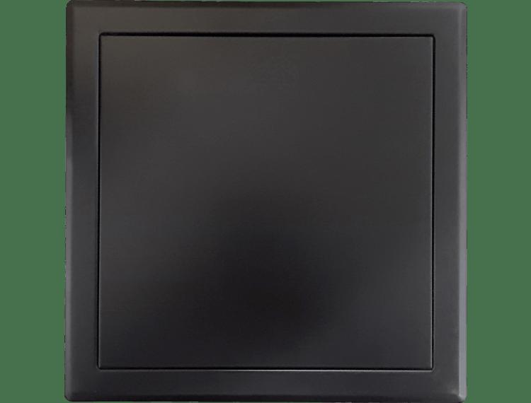 Inspeksjonsdør tett sort matt push-dør 30x30 cm